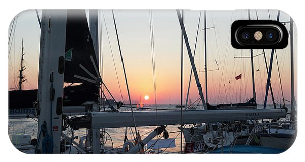 IPhone Case featuring the photograph Trieste Sunset by Helga Novelli