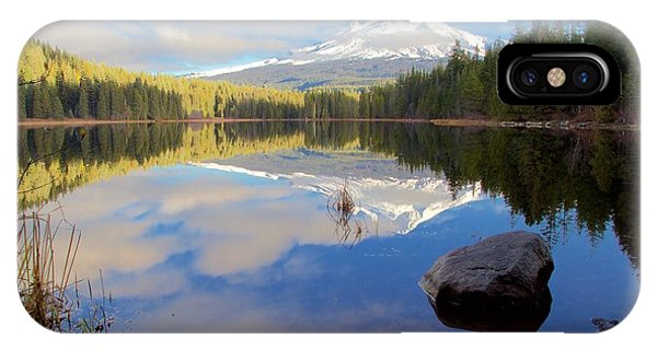 Trillium Lake Morning Reflections IPhone Case