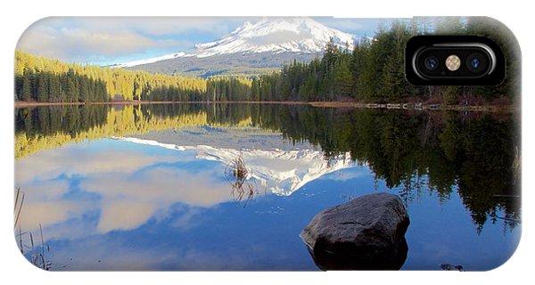 Trillium Lake November Morning IPhone Case