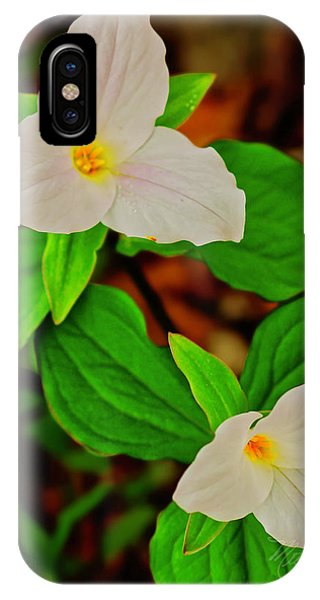 Trilliums IPhone Case