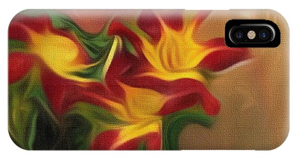 Trio Of Day Lilies IPhone Case