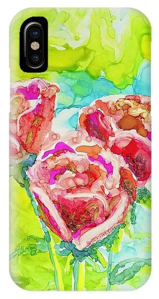 Trio Of Roses IPhone Case