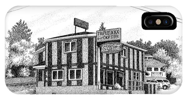 Purdue Boilermakers iPhone Case - Triple Xxx Steakhouse, Purdue University, West Lafayette, Indiana by Stephanie Huber