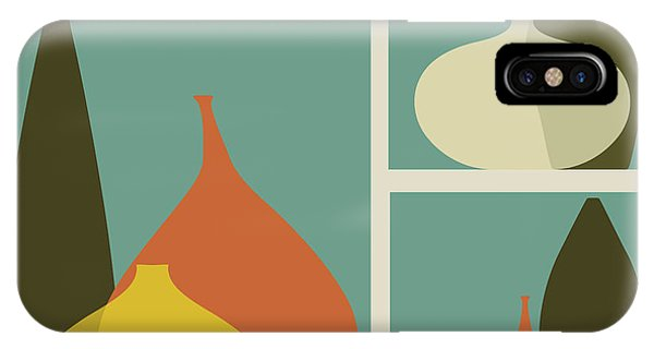 Form iPhone Case - Triptych Of Vases by Trendywest