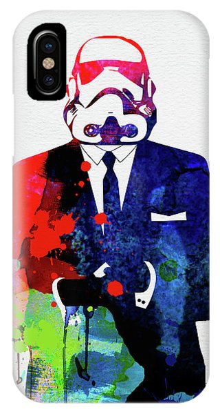 Film iPhone Case - Trooper Boss Watercolor by Naxart Studio