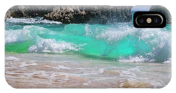 Carribbean iPhone Case - Tropical Clean Crisp Waves by Betsy Knapp