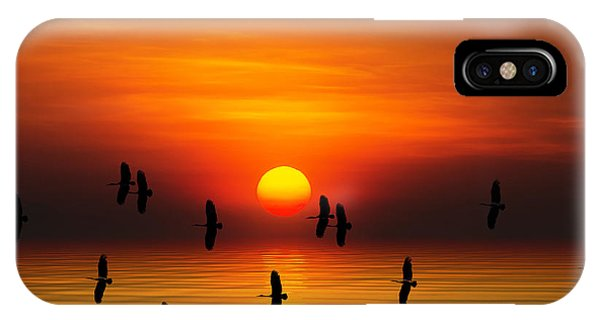 Tropical Colorful Sunset, Songkhla Phone Case by Siriwat Srinuroht