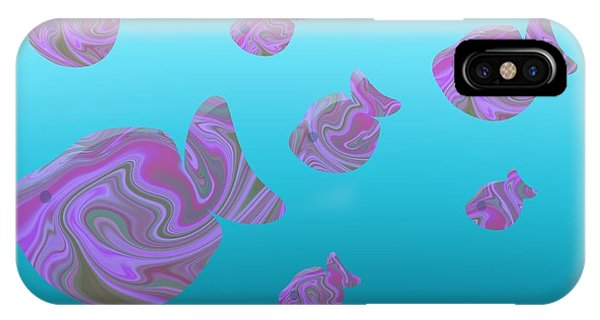 Tropical Fish In Pink Psychedelic Pattern IPhone Case