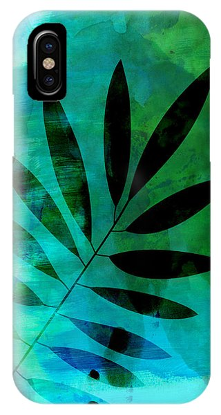 Leaf iPhone Case - Tropical Leaf Watercolor  by Naxart Studio
