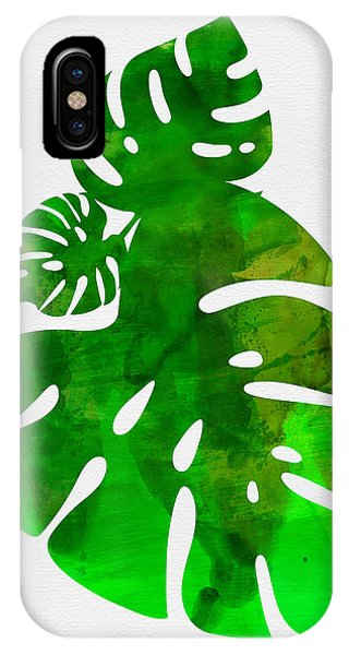 Leaf iPhone Case - Tropical Monstera Leafs by Naxart Studio