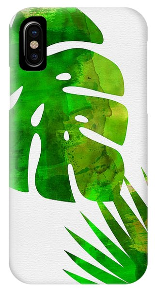 Leaf iPhone Case - Tropical Monstera  by Naxart Studio