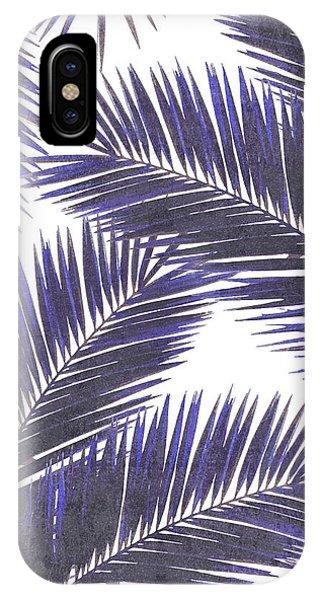 Violet iPhone Case - Tropical Palm Leaf Pattern 7 - Tropical Wall Art - Summer Vibes - Modern, Minimal - Purple, Violet by Studio Grafiikka