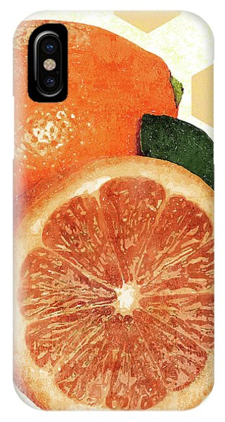 Grapefruit iPhone Case - Tropical Print - Orange, Grapefruit, Tangerine - Modern Wall Art Print - Tropical Poster by Studio Grafiikka