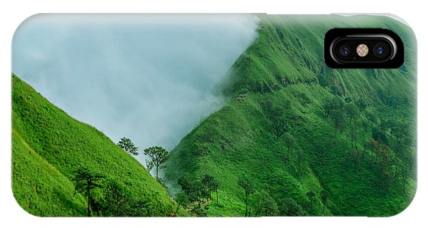 White Mountains iPhone Case - Tropical Rainforest, Khao Chang Puek by Avigator Fortuner