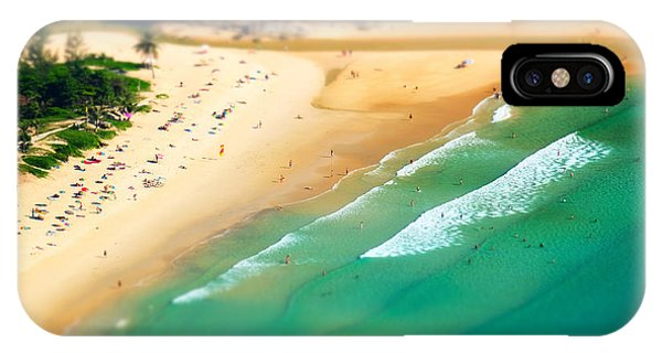 View Point iPhone Case - Tropical Sandy Beach Landscape From by Perfect Lazybones