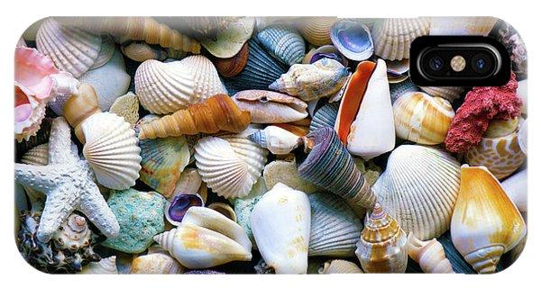 IPhone Case featuring the photograph Tropical Treasure Seashells A91218 by Mas Art Studio