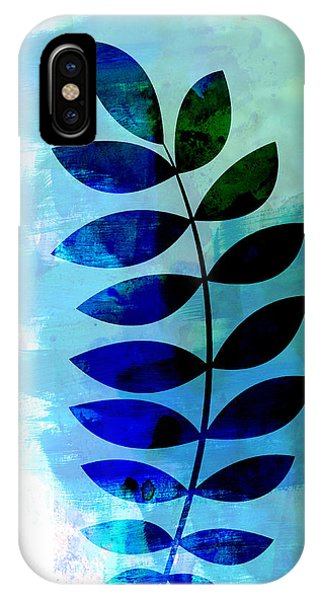 Leaf iPhone Case - Tropical Zamioculcas Leaf Watercolor by Naxart Studio