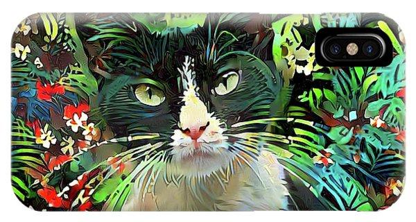 Tucker The Tuxedo Cat IPhone Case