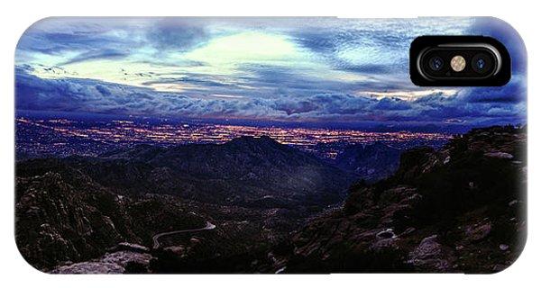Tucson Twilight Panorama IPhone Case