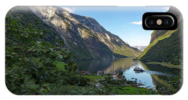 IPhone Case featuring the photograph Tufte, Naerofjord, Norway by Andreas Levi