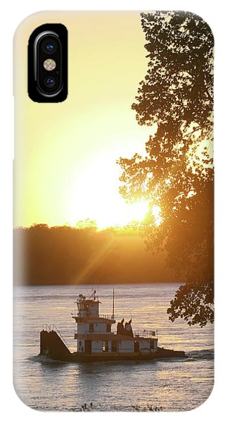 IPhone Case featuring the photograph Tugboat On Mississippi River by Christopher Meade