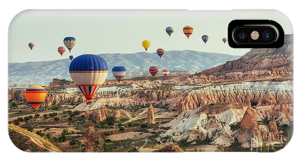 Christianity iPhone Case - Turkey Cappadocia Beautiful Balloons by Standret