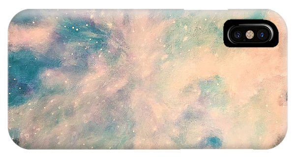 Turquoise Cosmic Cloud IPhone Case