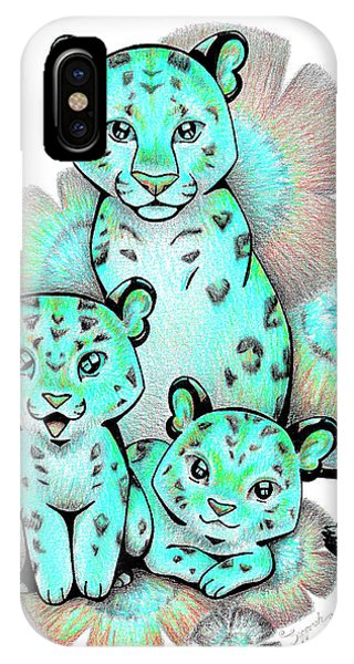 Turquoise Leopards IPhone Case