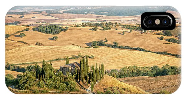 Cypress iPhone Case - Tuscan Hills by Delphimages Photo Creations