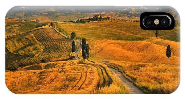 Farmland iPhone Case - Tuscany, Cypress Road by Jaroslaw Pawlak