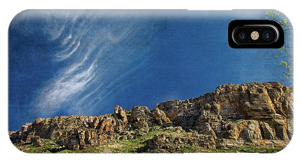 IPhone Case featuring the digital art Tuscon Clouds by Christopher Meade