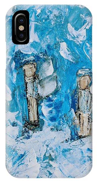 Twin Boy Angels IPhone Case