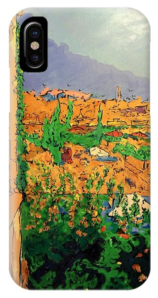 IPhone Case featuring the painting Spritz On The Terrace by Ray Khalife