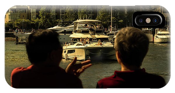 Two Friends At The Vancouver Bay IPhone Case