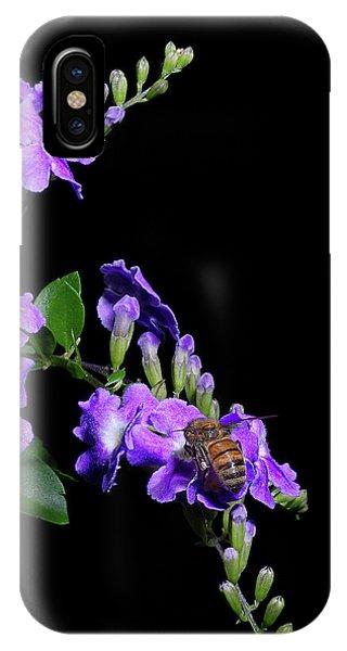 Honeybee iPhone X Case - Two Honeybees by Richard Rizzo