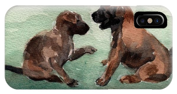 Two Malinois Puppies IPhone Case