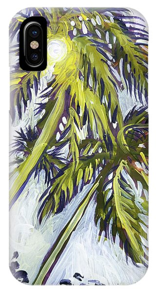 Two Palm Sketch IPhone Case