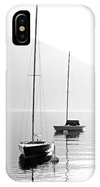 White Mountains iPhone Case - Two Sail Boats In Early Morning On The by Kletr