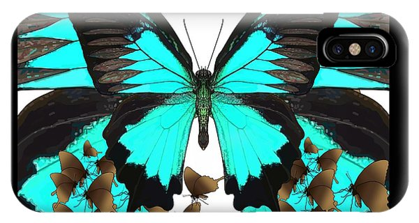 U Is For Ulysses Butterfly IPhone Case