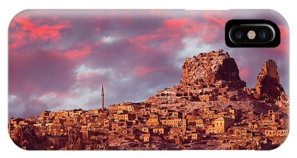 Christianity iPhone Case - Uchisar Castle, Cappadocia by Muratart