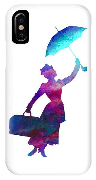 IPhone Case featuring the digital art Umbrella Lady by David Millenheft