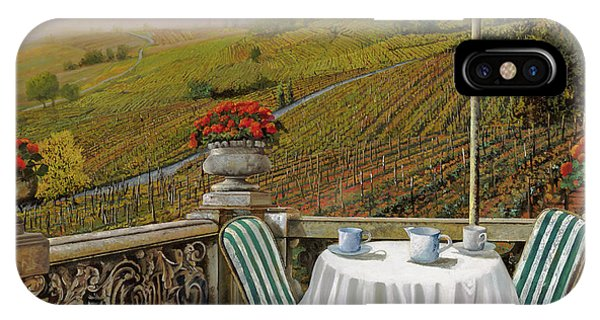 IPhone Case featuring the painting Un Caffe' Nelle Vigne by Guido Borelli