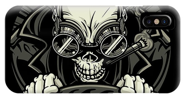 Undead Stock Car Racer. Vector Phone Case by Stockmambadotcom
