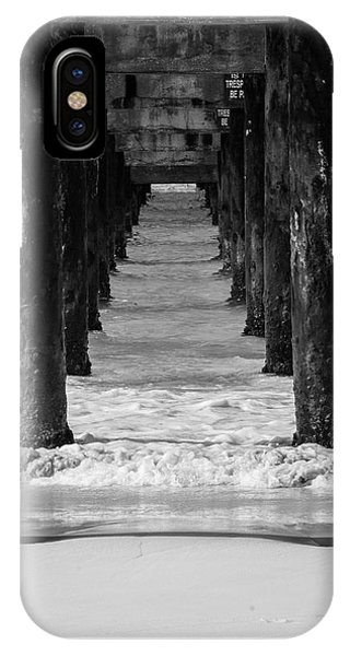 Under The Pier #2 Bw IPhone Case