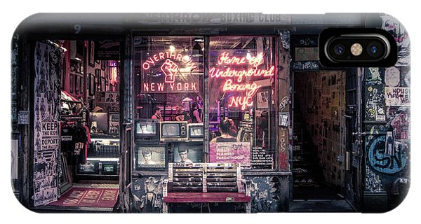Neon iPhone Case - Underground Boxing Club Nyc by Nicklas Gustafsson