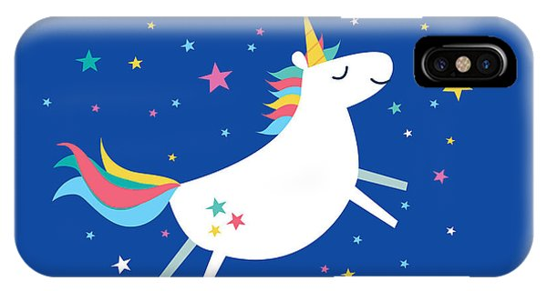 Fairy Tales iPhone Case - Unicorn Rainbow Vectorillustration by Lyeyee