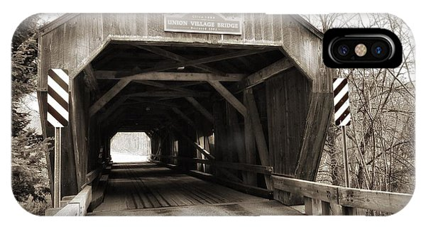 Union Village Covered Bridge IPhone Case