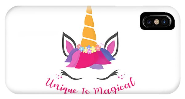 Unique Is Magical - Baby Room Nursery Art Poster Print IPhone Case