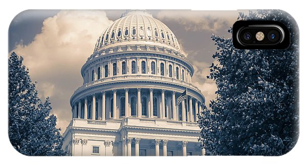 Capitol Building iPhone Case - United States Capitol Building Washington Dc 1 by Edward Fielding