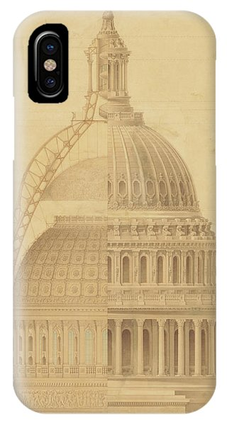 United States Capitol, Section Of Dome, 1855 IPhone Case